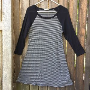 Rolla Coster Black and White Striped Dress Size S